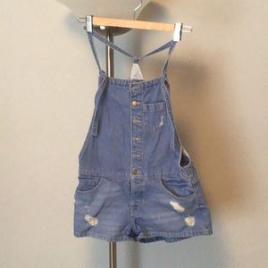 Zara blue denim overalls
